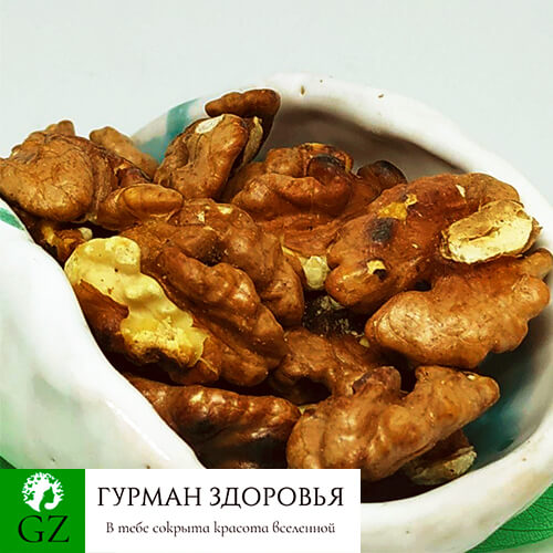 Колотый грецкий орех плод